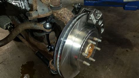 brake and l inspection station front pads and rotors on a dodge failed state