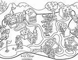 Coloring Town Pages Western Arcade Icicle Map Fresh Getcolorings Getdrawings Printable Print Colorings sketch template