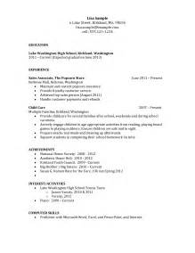 resume sles for high school students with work experience resume objective for high school student template design