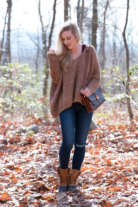 { Cabin in the Woods: Oversized sweater, Distressed denim & Duck boots }