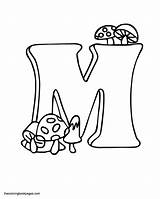 Letter Drawing Coloring Pages Mushrooms Bubble Letters Draw Cursive Getcoloringpages Template Alphabet Capital Getdrawings sketch template