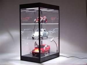 Vitrine Für Modellautos 1 43 : vitrine mit led beleuchtung schwarz f r modellautos 5 led lampen triple9 ebay ~ Markanthonyermac.com Haus und Dekorationen