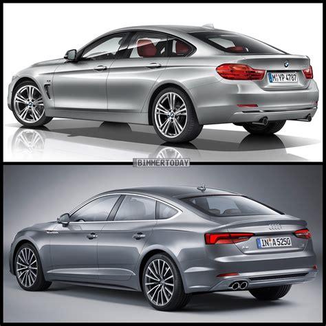3 Series Vs 4 Series Gran Coupe by Photo Comparison Bmw 4 Series Gran Coupe Vs Audi A5 Sportback