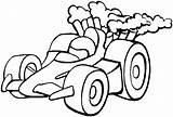 Coloring Race Racing Sheets Printable Simple sketch template