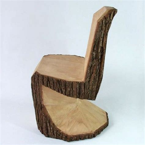 tree trunk chair diy furniture and home