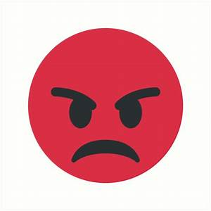 """Red Angry Face Emoji"" Art Prints by Winkham 
