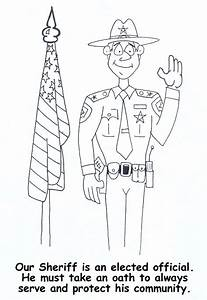 Free Coloring Pages Of Sheriff Badge Only