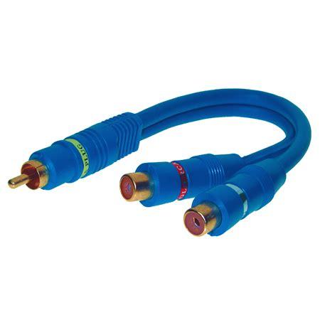 cinch y kabel cinch y kabel stecker 2xbuchse blau g 252 nstig kaufen
