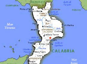 Calabria Italy Map Regions and Cities