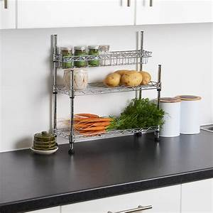 Hartleys, Kitchen, Counter, Top, 3, Tier, Wire, Storage, Worktop, Rack, Tidy, Organiser