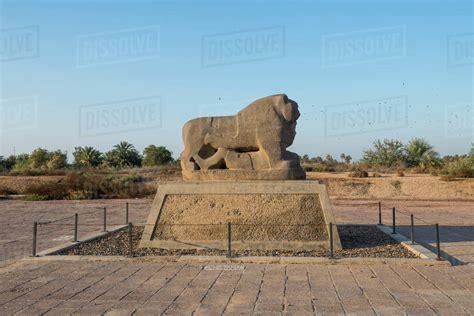 The Lion Of Babylon Babylon Iraq Middle East Stock