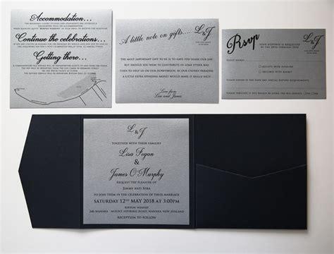 blue pocketfold wedding invitation red rose invitations