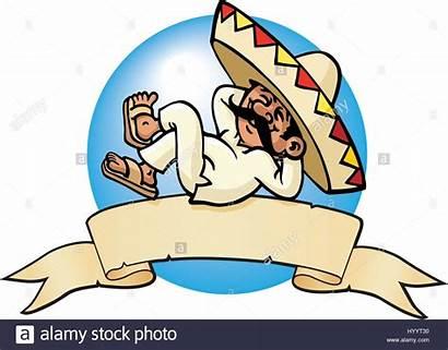 Mexican Sleeping Vector Illustration Alamy