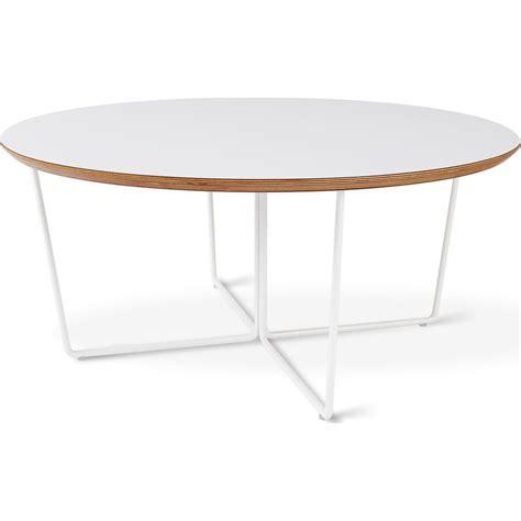 modern white round coffee table gus modern array round coffee table white sportique