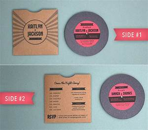 totally free totally rockin39 diy vinyl record wedding With 7 vinyl wedding invitations