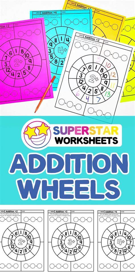 addition wheel worksheets    images math