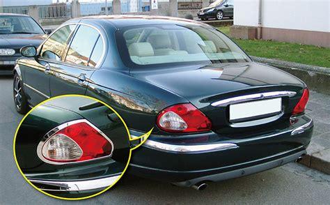 new chrome rear light surrounds covers trims for jaguar x type x400 2001 2009 ebay