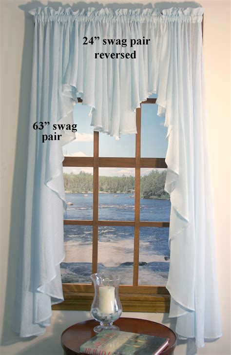 Blue Swag Curtains by Sea Glass Bodied Swag Thecurtainshop