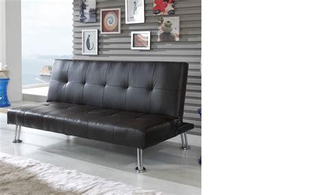 canapé banquette design canapé banquette noir design en pu et pieds chromés foxi