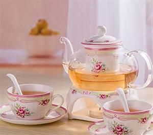 Tasse Mit Stövchen : ufengke l ndlich rose porzellan keramik teeservice mit ~ Orissabook.com Haus und Dekorationen