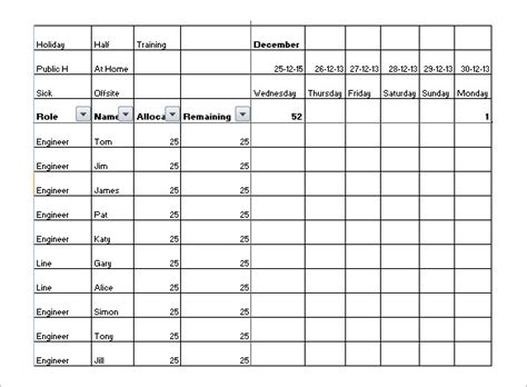 holiday schedule templates  word excel