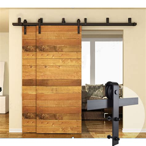 Closet Door Glides by 5ft 16ft Black Bypass Country Sliding Barn Wood