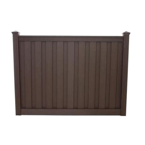 home depot fence sections seclusions 90 1 2 in x 4 in x 72 in woodland brown