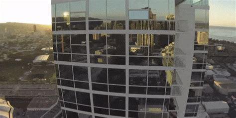 unlucky drones  slammed  buildings