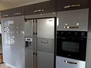 cuisine avec frigo americain maison design bahbecom With cuisine avec frigo americain integre