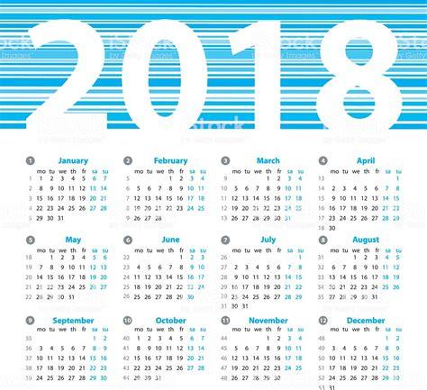 calendar year vector design template week numbers stock