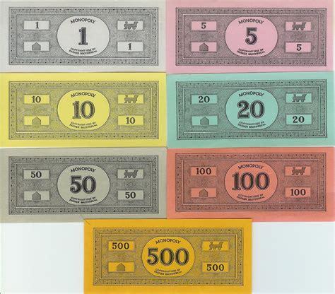 monopoly play money template printable