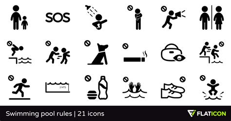 Swimming Pool Rules 21 Free Icons (svg, Eps, Psd, Png Files