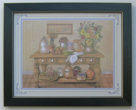 home interiors ebay country kitchen picture framed country picture print