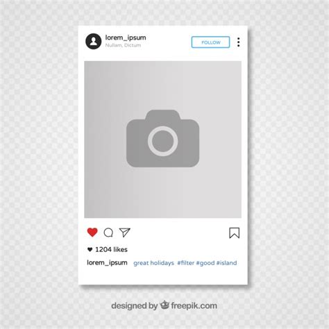 instagram template design vector