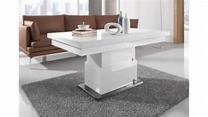 Table Extensible Blanc Laqué : belle table relevable modulable extensible r glable en hauteur blanche brillante ~ Teatrodelosmanantiales.com Idées de Décoration