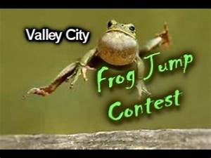 Frog Jumping Contest - YouTube