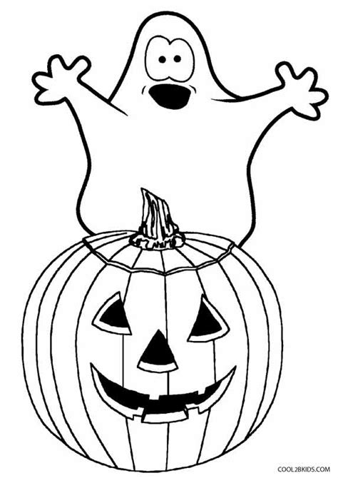 printable ghost coloring pages  kids