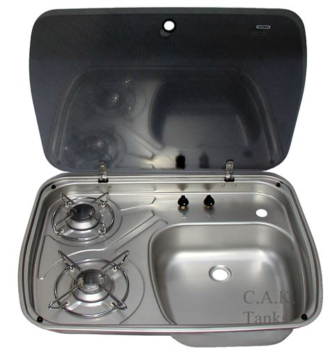sink and stove combo dometic cramer 2 burner hob sink combination with glass lid
