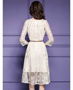 elegant beige lace a line wedding guest dress with sleeves With beige dress for wedding guest