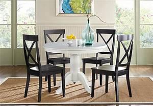 Brynwood White 5 Pc Round Dining Set Rustic