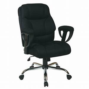 Shop Office Star Worksmart Big And Tall Black Chrome Mesh Manager Office Chair At Lowes Com