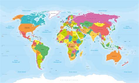 Carte Du Monde Avec Nom Des Pays Et Océans by Carte Du Monde Avec Les Pays Carte 2018