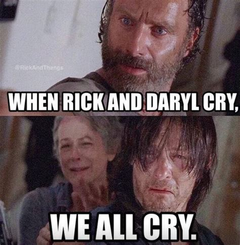 Crying Rick Meme - the only show to make me cry hahaha the walking dead pinterest walking dead crying and