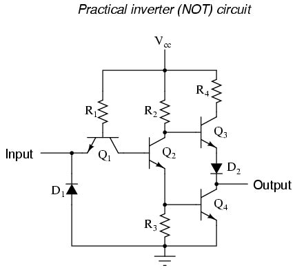The Not Gate Logic Gates Electronics Textbook