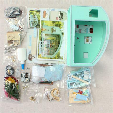 diy wooden dollhouse miniature kit doll house ledmusic