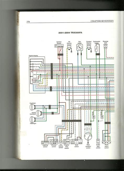 2000 Honda Foreman 450 Wiring Diagram by Wiring Diagram Needs For 01 Rubicon 500 Honda Foreman