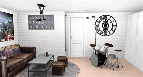 style chambre ado idee deco chambre industrielle