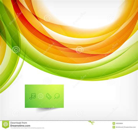 Abstract Orange And Green Wallpaper by Green And Orange Wave Abstract Background Stock Vector