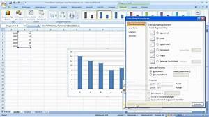 Excel 2007 - Trendlinien Einf U00fcgen Und Formatieren