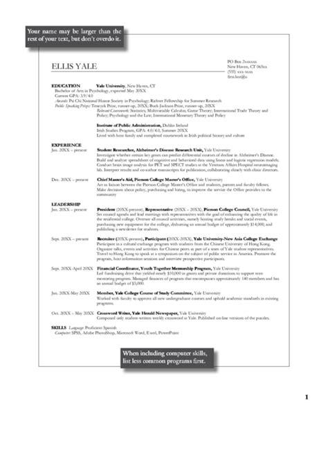 Psychology Resume Template by Psychology Resume Template Printable Pdf